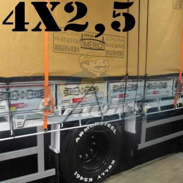 Lona 4,0 x 2,5m Encerado Premium Cotton RipStop de Algodão Caqui para Caminhão + 30 metros de Corda 8mm de brinde!
