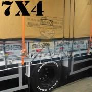 Lona 7,0 x 4,0m Encerado Premium Cotton RipStop de Algodão Caqui para Caminhão + 50 metros de Corda 8mm de brinde!