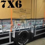 Lona 7,0 x 6,0m Encerado Premium Cotton RipStop de Algodão Caqui para Caminhão + 60 metros de Corda 8mm de brinde!