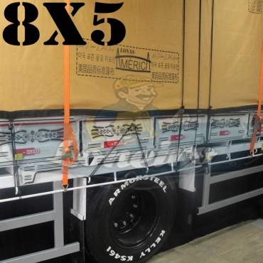 Lona 8,0 x 5,0m Encerado Premium Cotton RipStop de Algodão Caqui para Caminhão + 60 metros de Corda 8mm de brinde!