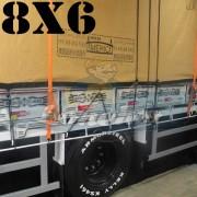 Lona 8,0 x 6,0m Encerado Premium Cotton RipStop de Algodão Caqui para Caminhão + 60 metros de Corda 8mm de brinde!