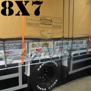 Lona 8,0 x 7,0m Encerado Premium Cotton RipStop de Algodão Caqui para Caminhão + 80 metros Corda 8mm de brinde!