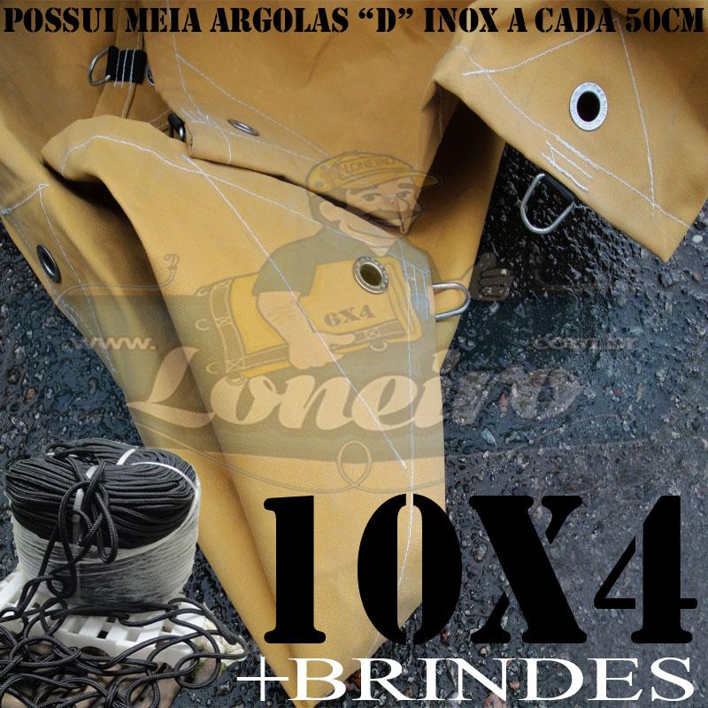 ENCERADO CAMINHÃO 10X4 COM MEIA ARGOLA D INOX A CADA 50CM.