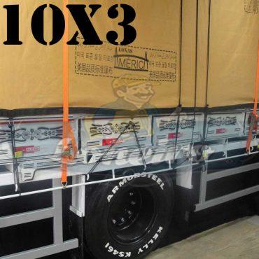 Lona: 10,0 x 3,0m Encerado Premium Cotton RipStop de Algodão Caqui para Caminhão + 50 metros de Corda 8mm de brinde!