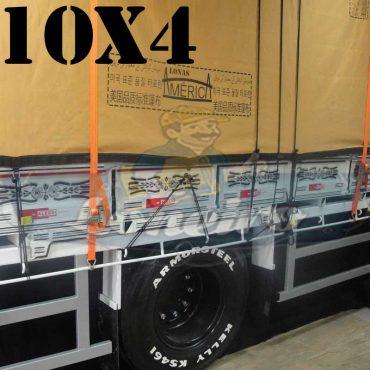 Lona: 10,0 x 4,0m Encerado Premium Cotton RipStop de Algodão Caqui para Caminhão + 60 metros de Corda 8mm de brinde!