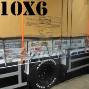 Lona: 10,0 x 6,0m Encerado Premium Cotton RipStop de Algodão Caqui para Caminhão + 60 metros de Corda 8mm de brinde!