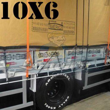 Lona: 10,0 x 6,0m Encerado Premium Cotton RipStop de Algodão Caqui para Caminhão + 80 metros de Corda 8mm de brinde!