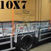 Lona: 10,0 x 7,0m Encerado Premium Cotton RipStop de Algodão Caqui para Caminhão + 80 metros de Corda 8mm de brinde!
