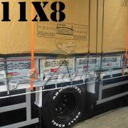 Lona: 11,0 x 8,0m Encerado Premium Cotton RipStop de Algodão Caqui para Caminhão + 120 metros de Corda 8mm de brinde!