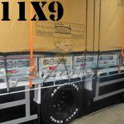 Lona: 11,0 x 9,0m Encerado Premium Cotton RipStop de Algodão Caqui para Caminhão + 140 metros de Corda 8mm de brinde!