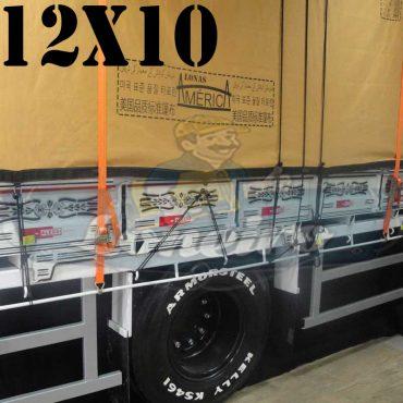 Lona: 12,0 x 10,0m Encerado Premium Coton RipStop de Algodão Caqui para Cobertura de Carga Caminhão