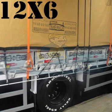 Lona: 12,0 x 6,0m Encerado Premium Coton RipStop de Algodão Caqui para Caminhão + 90 metros de Corda 8mm de brinde!