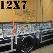 """Lona: 12,0 x 7,0m Encerado Premium Coton RipStop de Algodão Caqui para Cobertura de Carga Caminhão com argolas """"D"""" a cada 1 metro"""
