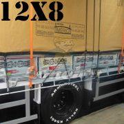 Lona: 12,0 x 8,0m Encerado Premium Coton RipStop de Algodão Caqui para Caminhão + 150 metros de Corda Preta 10mm de brinde!