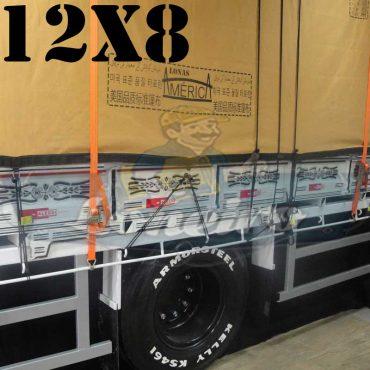 Lona: 12,0 x 8,0m Encerado Premium Coton RipStop de Algodão Caqui para Caminhão + 180 metros de Corda 8mm de brinde!