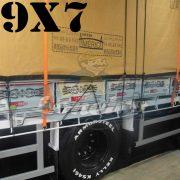 Lona 9,0 x 7,0m Encerado Premium Cotton RipStop de Algodão Caqui para Caminhão + 90 metros Corda 8mm de brinde!