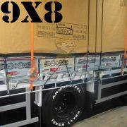 Lona 9,0 x 8,0m Encerado Premium Cotton RipStop de Algodão Caqui para Caminhão + 100 metros de Corda 8mm de brinde!