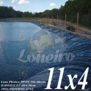 Lona para Lago Tanque de Peixes PP/PE: 11,0 x 4,0m Azul / Cinza impermeável e Atóxica para Lago Artificial Armazenagem de Água Cisterna