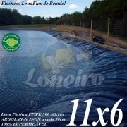 Lona para Lago Tanque de Peixes PP/PE: 11,0 x 6,0m Cinza Chumbo / Preta impermeável e atóxica para Lagos Artificiais e Armazenagem de Água