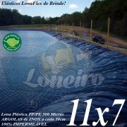 Lona para Lago Tanque de Peixes PP/PE: 11,0 x 7,0m Cinza Chumbo / Preta impermeável e atóxica para Lagos Artificiais e Armazenagem de Água