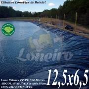 Lona para Lago Tanque de Peixes PP/PE: 12,5 x 6,5m Cinza Chumbo / Preta impermeável e atóxica para Lagos Artificiais e Armazenagem de Água