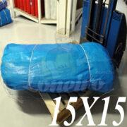 Lona: 15,0 x 15,0m Azul 300 Micras para Telhado, Barraca, Cobertura, Lagos, Tanques, Piscinas Artificiais e Proteção Multi-Uso + 60 Elásticos LonaFlex 30cm