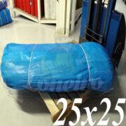 Lona: 25,0 x 25,0m Azul 300 Micras Impermeável para proteção cobertura impermeabilização com bainha ilhoses a cada 1 metro