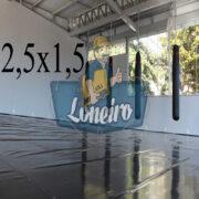 Lona 2,5 x 1,5m Super Tatame PVC Vinil Premium para pratica de esportes JiuJitSu Muay-Thay Boxe MMA UFC Academias Danças