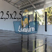 Lona 2,5 x 2,5m Super Tatame PVC Vinil Premium para pratica de esportes JiuJitSu Muay-Thay Boxe MMA UFC Academias Danças