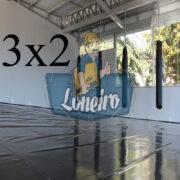 Lona 3,0 x 2,0m Super Tatame PVC Vinil Premium para pratica de esportes JiuJitSu Muay-Thay Boxe MMA UFC Academias Danças