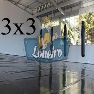 Lona 3,0 x 3,0m Super Tatame PVC Vinil Premium para pratica de esportes JiuJitSu Muay-Thay Boxe MMA UFC Academias Danças