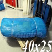 Lona: 40,0 x 25,0m Azul 300 Micras Impermeável para proteção cobertura impermeabilização com bainha ilhoses a cada 1 metro