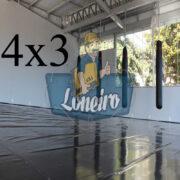 Lona 4,0 x 3,0m Super Tatame PVC Vinil Premium para pratica de esportes JiuJitSu Muay-Thay Boxe MMA UFC Academias Danças