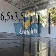 Lona 6,5 x 3,5m Super Tatame PVC Vinil Premium para pratica de esportes JiuJitSu Muay-Thay Boxe MMA UFC Academias Danças