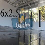 Lona 6,0 x 2,5m Super Tatame PVC Vinil Premium para pratica de esportes JiuJitSu Muay-Thay Boxe MMA UFC Academias Danças
