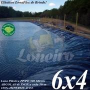 Lona para Lago Ornamental PP/PE 6,0 x 4,0m Cinza Chumbo / Preta impermeável sem toxinas Tanque de Peixes Lagos Artificiais Armazenagem de Água