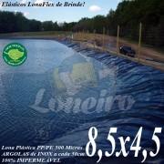 Lona para Lago Tanque de Peixes PP/PE 8,5 x 4,5m Azul / Cinza para Lagos Artificiais Tanque de Peixes e Armazenagem de Água