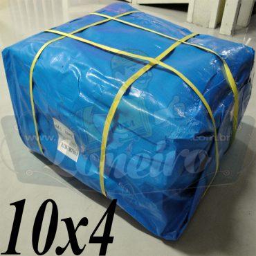 Lona: 10,0 x 4,0m Azul 300 Micras Loneiro para Telhado, Barraca, Cobertura e Proteção Multi-Uso + 30 Elásticos LonaFlex 30cm