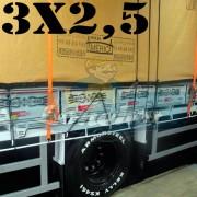Lona 3,0 x 2,5m Encerado Premium Cotton RipStop de Algodão Caqui para Caminhão + 2 Catracas de 5m x 25mm + 10m Corda 8mm de brinde!