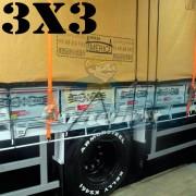 Lona 3,0 x 3,0m Encerado Premium Cotton RipStop de Algodão Caqui para Caminhão + 2 Catracas de 5m x 25mm + 10m Corda 8mm de brinde!