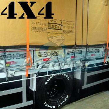 Lona 4,0 x 4,0m Encerado Premium Cotton RipStop de Algodão Caqui para Caminhão + 30 metros de Corda 8mm de brinde!