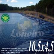 Lona para Lago Tanque de Peixes PP/PE: 10,5 x 4,5m Azul/Cinza impermeável e atóxica para Lago Artificial, Armazenagem de Água e Cisterna