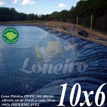 Lona para Lago Tanque de Peixes PP/PE: 10,0 x 6,0m Prateada/Branca para Lagos Artificiais, Armazenagem de Água e Cisterna