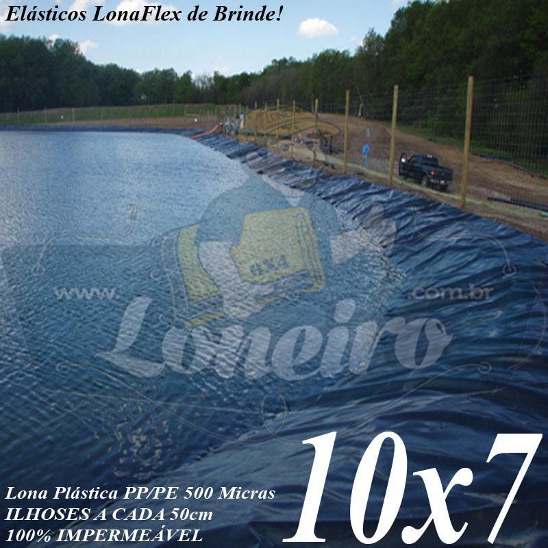 Lona para Lago Tanque de Peixes PP/PE: 10,0 x 7,0m para Lagos Artificiais de Peixes Tanques Armazenagem de Água e Cisternas