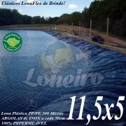 Lona para Lago Tanque de Peixes PP/PE: 11,5 x 5,0m Azul / Preto impermeável e atóxica para Lago Artificial Açudes Cisternas Reservatórios de Água