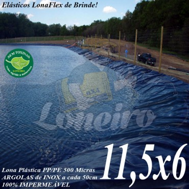 Lona para Lago Tanque de Peixes PP/PE: 11,5 x 6,0m Cinza / Preto Impermeável Atóxica para Lago Artificial Açudes Cisternas Reservatórios de Água
