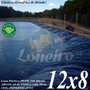 Lona para Lago Tanque de Peixes PP/PE: 12,0 x 8,0m Prata/Branca ideal para Lagos Artificiais Tanque de Peixes Armazenagem de Água e Cisterna