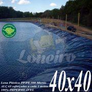 Lona para Lago Tanque de Peixes PP/PE: 40,0 x 40,0m Azul/Cinza para Lagos Artificiais, Armazenagem de Água e Cisterna