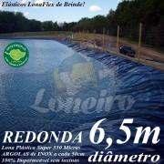 Lona para Lago Ornamental PP/PE 6,5m de diâmetro Redonda Azul impermeável para Tanque de Peixes Lagos Artificiais Armazenagem de Água e Cisterna