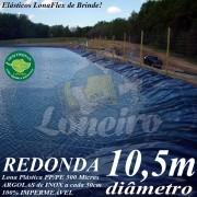 Lona para Lago Tanque de Peixes PP/PE: 10,5m de diâmetro Redonda Azul/Cinza para Lagos Artificiais, Armazenagem de Água e Cisterna